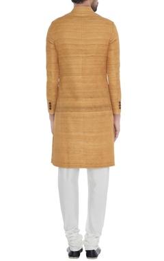 Mango handloom silk kantha chequered achkan
