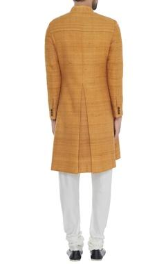 Mango textured handloom silk achkan