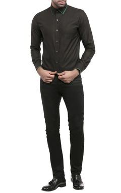 black shirting fabric solid shirt