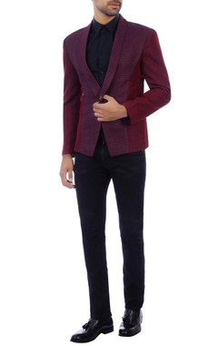 Purple & maroon wool jacket