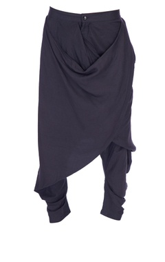 Grey cowled solid dhoti pants