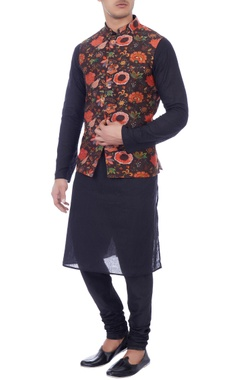 multicolored nehru jacket