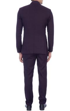 dark purple lightweight wool jacket & pants