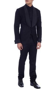 black lightweight wool formal jacket