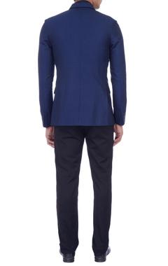 blue lightweight wool waistcoat & jacket