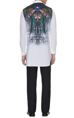 White floral printed shirt