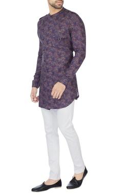 Khanijo Purple floral printed kurta