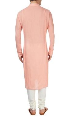 Pink blind tucked kurta set
