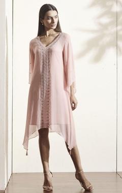 Light pink embroidered kaftan