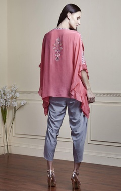 Pink top with cutout sleeves