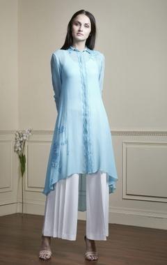 Blue shirt style tunic