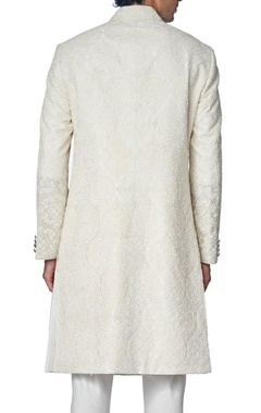 Off white embroidered sherwani