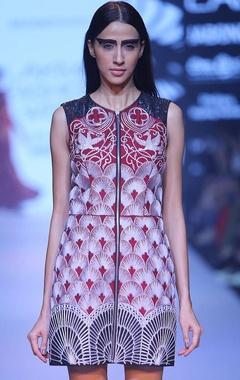 marsala gothic mini dress