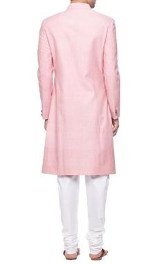 Light pink silk sherwani