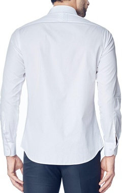 White one side pleated shirt