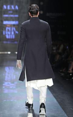 Cream cotton silk churidar