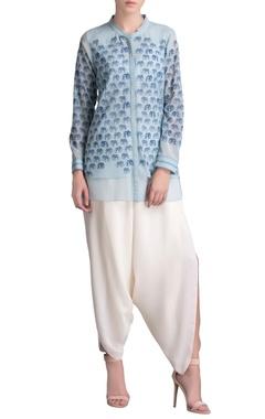 Pastel blue printed shirt