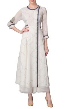 Ivory kurta with palazzo pants