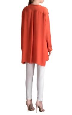 Rust orange high low tunic