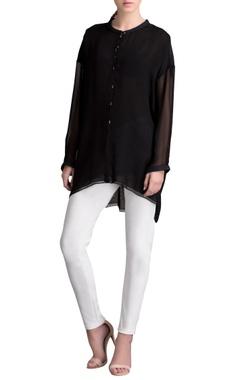 Black high low tunic