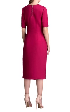 Mulberry midi dress with flap detail