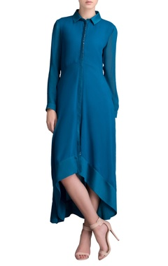 Sapphire asymmetric midi dress