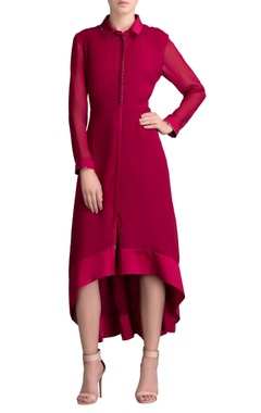Mulberry asymmetric midi dress