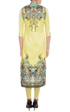 Sunshine yellow printed kurta & leggings