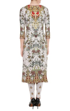 Ivory printed kurta & leggings