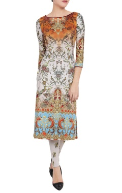 Falguni Shane Peacock Multi-colored printed kurta & leggings