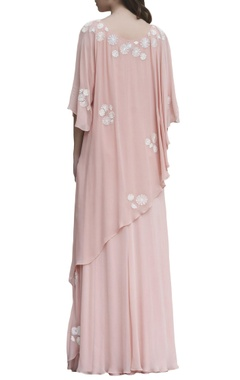 Blush pink embroidered maxi dress