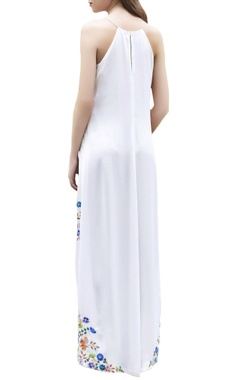 Ivory high low maxi dress
