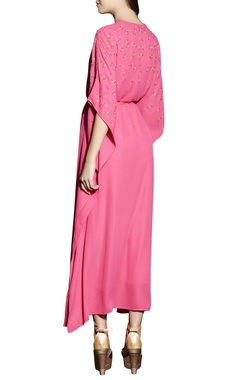 Hot pink kaftan dress