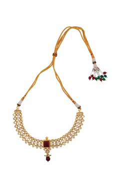 Kundan layered necklace with drop earrings