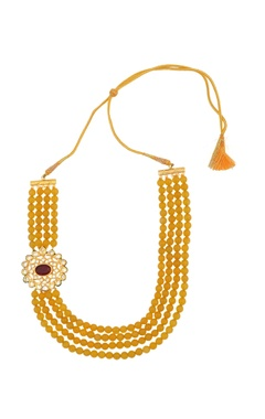 yellow layered necklace