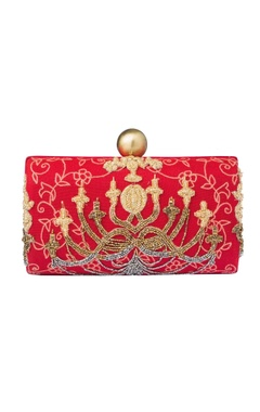 Red beaded clutch