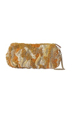 Gold embellished wristlet