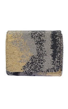 Black embellished clutch