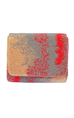 Lovetobag crimson red embroidered clutch