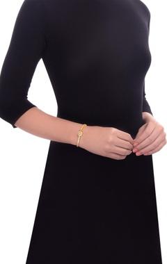 Gold plated swarovski bracelet