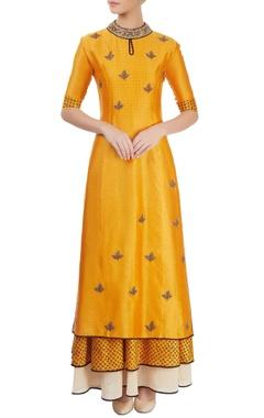 mustard yellow kurta set