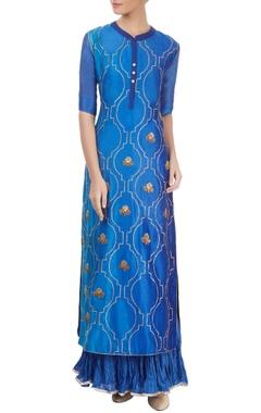 blue kurta set