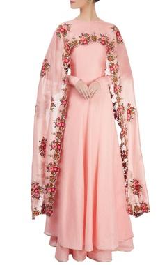 light pink kurta set with palazzos