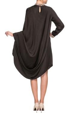Black band collar dress
