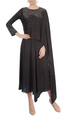 Mayank Anand Shraddha Nigam Black layered dress