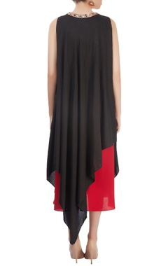 Black and red layered dress