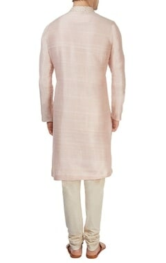 Blush pink & off-white kurta set