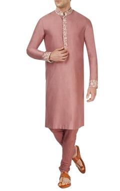 Burnt rose pink kurta set