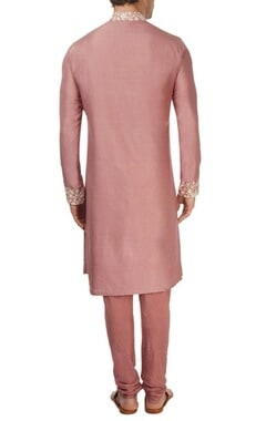 Burnt rose pink kurta set