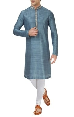 Teal kurta set